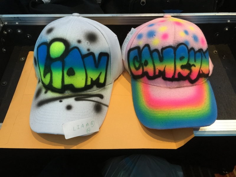 Air Brush Hats Finished Product