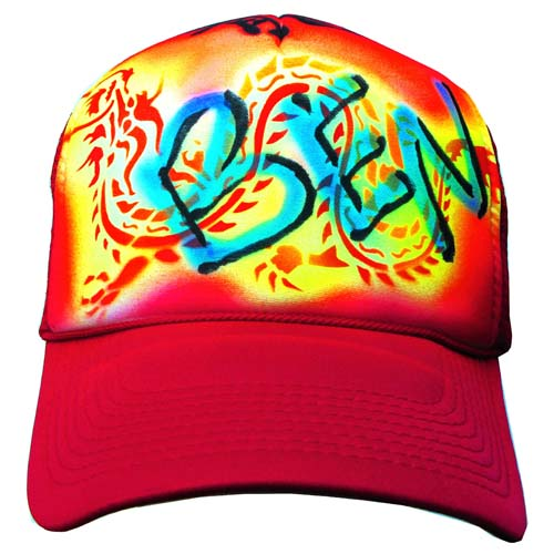 Air Brush Hat Sample