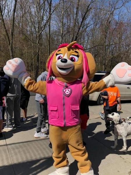 Pink Dog Character