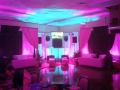 Bar mitzvah set up with decor and VIP areas