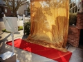 Open Air Photo Booth w/ Gold Shimmer Backdrop